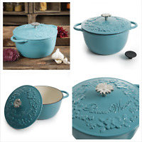 The Pioneer Woman Timeless Beauty 5-Quart Cast Iron Dutch Oven in Turquoise