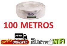 Cable Coaxial para Antena tv bobina 100m metros TDT SAT 6.8 MM