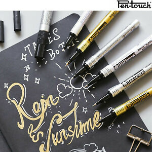 Sakura Permanent Opaque Metallic Paint Marker Pen Silver Gold Fine Medium Point