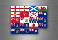 Planche autocollant sticker etiquette drapeaux region province etats uk anglais