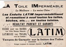 C70  BUVARD La Toile IMperméable LATIM (Rare)