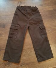 Boy's Designer Brown TIMBERLAND Cargo Trousers Age 3 Years *L@@K* Vgc