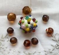 Vintage Lampwork Glass Beads Crafting Jewelry Making R-55