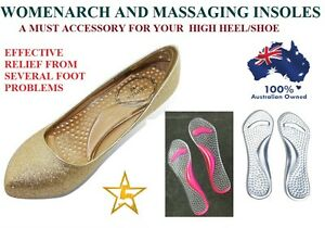 Gel Orthotics Insoles Inserts Shoe Pad Cushion Arch Pain Metatarsal Pain Massage