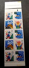 US Booklet Stamp Scott#  BK212 Happy Holidays  1993   MNH C480