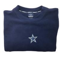 Dallas Cowboys Mens Medium Blue Fleece Pullover Sweater Vintage Rare NFL Dak
