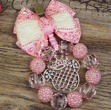 Splendido Ciondolo per carrozzina in baby rosa per neonate