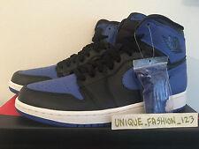 2013 Nike Air Jordan 1 Alto Og Negro Azul Real EE. UU. 9 Reino Unido 8 42.5 Bred Retro Hi AJ
