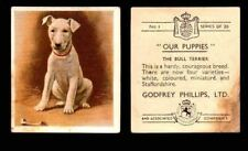 """1936 Godfrey Phillips """"Our Puppies"""" Tobacco You Pick Singles Trading Cards #1-30"""