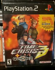 CIB!!! TIME CRISIS 3 + GUNCON2 SONY PLAYSTATION 2 WITH GUN