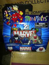 Marvel Minimates Age of Apocalypse Mr Sinister & Nimrod Figures 2 pack UK Seller