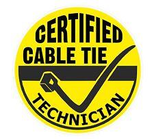 Funny Cable Tie técnico Vinilo Coche Caja De Herramientas Adhesivo Calcomanía Electricista Mecánico
