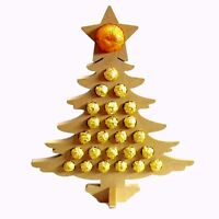 LARGE Free Standing Chocolate MDF Advent Calendar Tree
