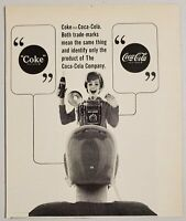 1964 Print Ad Coca-Cola Soda Pop Lady Photographer Drinks Bottle of Coke