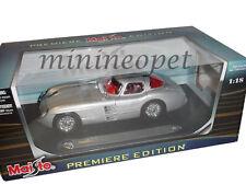 MAISTO 36898 MERCEDES BENZ 300 SLR COUPE UHLENHAUT 1/18 DIECAST CAR SILVER