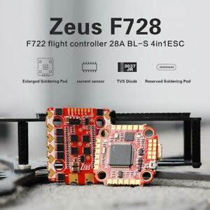 HGLRC Zeus F728 STACK 20x20 2-6S | F722 Flight Controller FC | 28A BLS 4in1 ESC