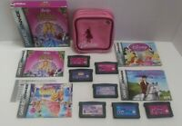 Girls Game Lot! 7 Games & GBA Case! Barbie / Disney Princesses / My Little Pony!