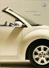 Volkswagen Beetle Convertible Cabriolet 2003 UK Market Brochure 1.4 1.6 2.0 TDi