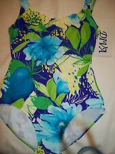 WOMENS LADIES MISS  SIZE 10 SWIMSUIT BATHING SUIT 1 PIECE BY DIVA  NWT FLOWER