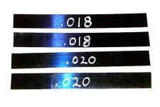"2' Tattoo Machine Spring Steel Stock Kit 3/4"" Wide .018 & .020 Gauge binder part"