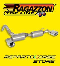 RAGAZZON SCARICO SDOPPIATO TERMINALI ROTONDI 500 / 595 ABARTH 1.4TJET 135CV