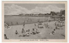 Beach Crowd Front Beach Bearskin Neck Rockport Massachusetts Albertype postcard