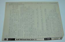 Microfich Ersatzteilkatalog Audi 100 / Avant Typ 44 / C3 ab Baujahr 1985