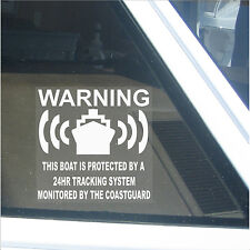 6 x Boat Protected 24hr Tracking System-Alarm Security Stickers-Speed/Vessel