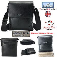 Nouveau noir pratique voyage sac en cuir bandoulière hommes femmes messenger épaule unisexe