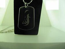 Allah is Great calligraphy Tag Pendant Necklace