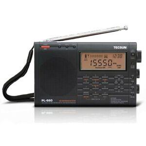 *UK Stock* TECSUN PL-660 Radio FM LW Shortwave MW AIR DSP SYNC SSB Receiver