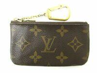 Auth Louis Vuitton Monogram Pochette Cles M62650 Coin Purse Good 86926