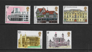 1975 GB - European Architecture Heritage Year - Full Set of Five - MNH.