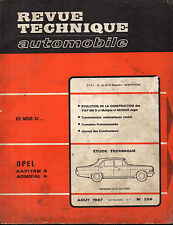 RTA revue technique automobile N° 256 OPEL KAPITAN ADMIRAL A
