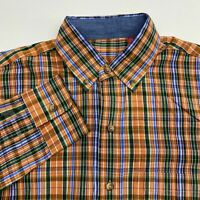 Izod Button Up Shirt Men's Size Small Long Sleeve Muticolor Plaid Casual