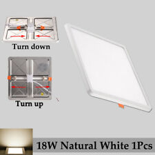20W Square Recessed Led Ceiling Flush Panel Lights Down Natural White Fixtures