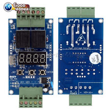12V Dual Programmable Relay Control Board Cycle Delay Timer Switch Module Top