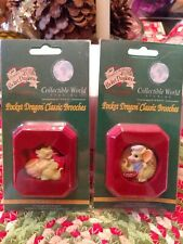 Pocket Dragons Classic Brooches Set -Baking Cookies and I need Coffee
