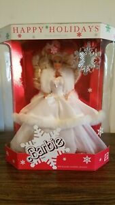 Vintage 1989 Happy Holidays Barbie Doll Special Edition