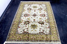 New listing 9X6 Breathtaking New Hand Knotted Superb Ivory Tabrizz Design Oriental Wool Rug