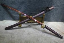 Carbon Steel Blade Red Curved Collectable Swords