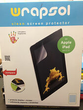 WRAPSOL-CMPAP011-SO Clear Anti-Smudge Screen Protector Film for iPad gen 2&3,NEW