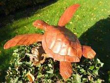Wooden Turtle Carving - Hand Carved Turtle 30cm