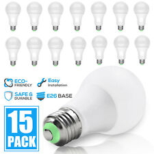 15-Pack LED Light Bulbs 15W / 100W Replacement 2600L Daylight 6000K Dimmable E26
