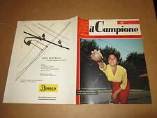 RIVISTA SPORTIVA IL CAMPIONE ANNO 1956 ANNO II° N°34 LAZIO-ROMA TORINO-JUVE