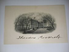 Theodore roosevelt autograph Signed On White House Vignette
