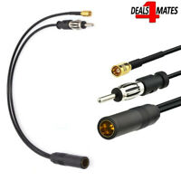 DAB & FM / AM Car Radio Aerial Active Antenna SMB DIN Splitter Adapter Cable UK