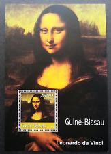 Guinea Bissau Leonardo da Vinci Painting - Mona Lisa 2001 Art (ms) MNH