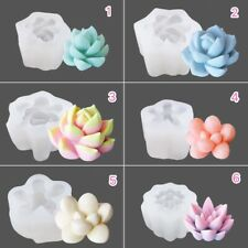 Silicone New Styles Succulent Plant Fondant Sugarcraft Soap Mould DIY Clay Resin