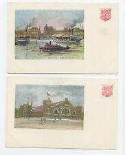 4 postcards Toronto, Canada - Undivided back - unused
